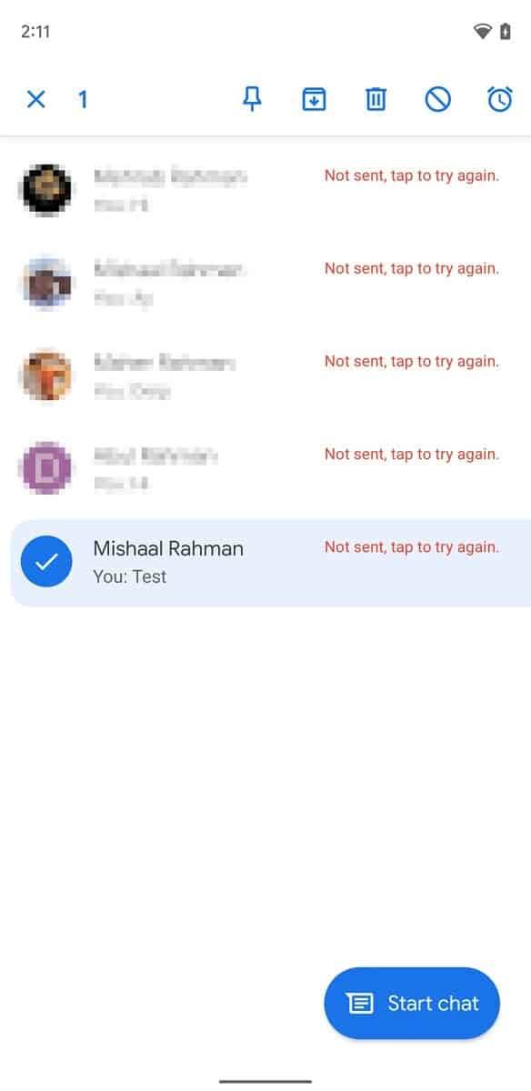 mensagens da google Samsung