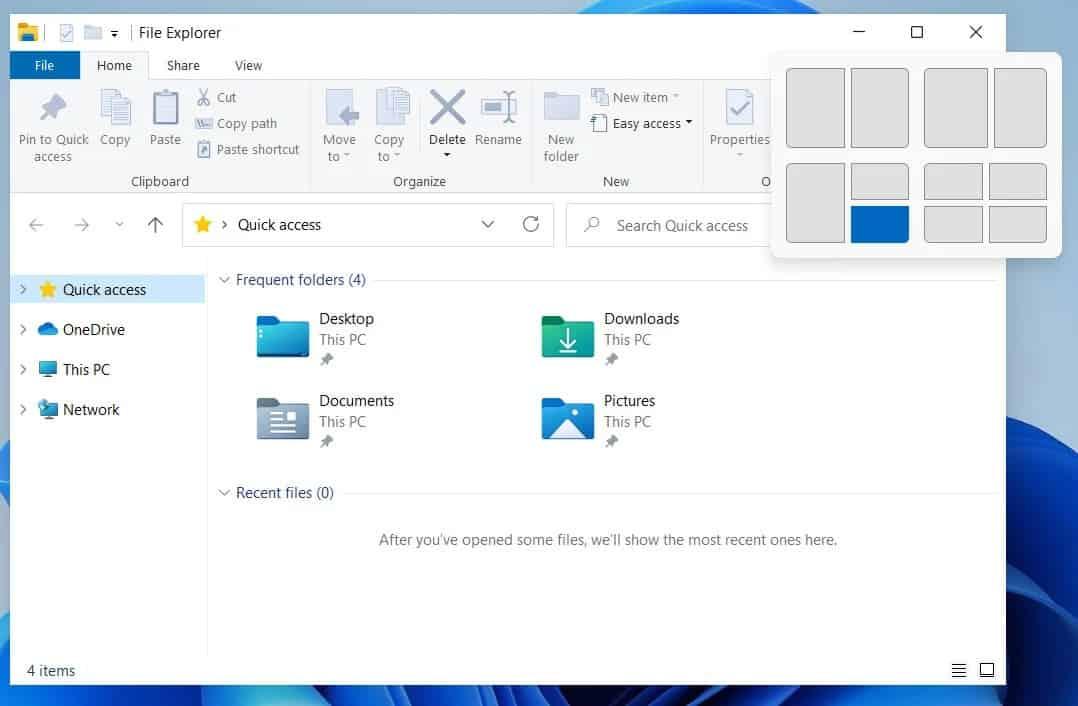 Windows 11 ecrãs