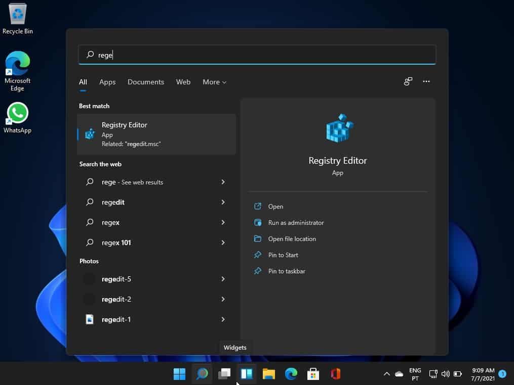 Windows-Taskleiste oben